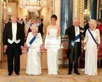 DONALD TRUMP, QUEEN ELIZABETH II & PRINCE CHARLES IN 2019 - 8X10 PHOTO (SP070)