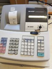 SHARP XE-A203 Electronic Cash Register with Instructions and till roll