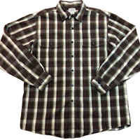 L.L. Bean Thermolite Plaid Long Sleeve Button Up Shirt, Size Medium, 0 PB63