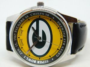 Game Time Green Bay Packers NFL NFC Genuine Leather Quartz Analog Men's Watch