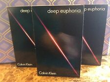 3 X CALVIN KLEIN Deep Euphoria Eau de Parfum Spray Vial Sample Card 0.04 oz