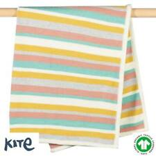 Kite 100% GOTS Organic Cotton Happy Hare Knitted Blanket (RRP £32)