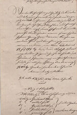 ANTIK Alte Handschrift Urkunde Gerichtsurkunde 1832 Goessitz Ziegenrück