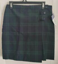 Dennis Girls H18.5,18 Plus, Blackwatch Plaid Double Tab Front Pleat Skirt Skort