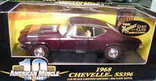 1968 Chevelle Cordovan Maroon 1:18 Ertl American Muscle 32490