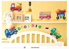 Autocollant Mural Cars Feu Moteur,Camions,Bus Garçons Chambre Crèche Décoration