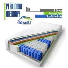 7 ZONEN  Taschenfederkern Matratze PLATINUM MEMORY 160x200 VISCO H2