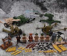 World War II Building Block Soviet Union Artillery Brigade Army Military DIY Toy