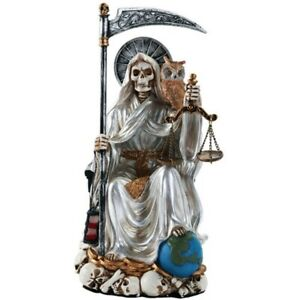 Santa Muerte White Figurine New Our Lady of the Holy Death 9 inch