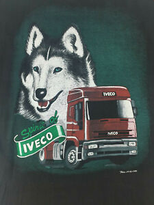 Vintage Spirit of Iveco Trax Holland T-Shirt Black Large - Used