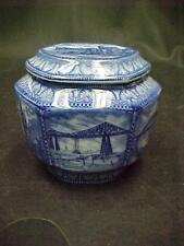 1929 MALING TRANSFER WARE RINGTON'S TEA CADDY BISCUIT JAR WINDSOR  5 BRIDGES