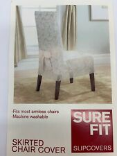Sure Fit Armless Dining Room Chair Covers Champagne Color NEW Set of 3 Covers