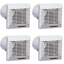 4 x Vent Axia 254102 Wall Duct & Grille Vent Kits 100mm / 4 Inch (White)