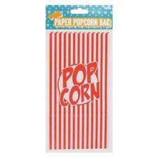 Popcorn Paper Bags Retro Red Stripes Movie Film Night 1 Sample Bag