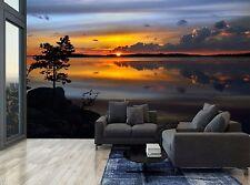 Sky Cloud Sunset Magic Lake Nature Wall Mural Photo Wallpaper GIANT WALL DECOR