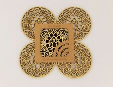 New listing Wooden Coasters, Laser cut Coasters, Set of 4 Wood Coasters, Home warming Gift