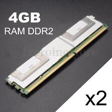8GB 2x4gb DDR2 667MHz 240Pin DIMM RAM Memory ECC Server CL5 GOOD RADIATING PC