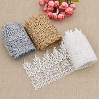 2 Yards Embroidered Lace Edge Trim Wedding Ribbon Applique Sewing Craft DIY