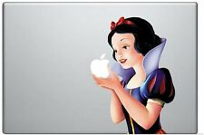 Snow White Holding Apple 11 Inch MacBook Pro / Air Vinyl Decal Sticker