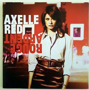 AXELLE RED : ROUGE ARDENT (titre de MANSET) ♦ RARE PLAN + CD PROMO NUMÉROTÉ ! ♦
