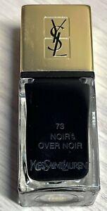 YSL nail polish 73 NOIR OVER NOIR rare limited edition