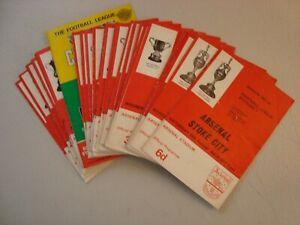 Full set of Arsenal 1967-68 home programmes - 29 programmes in all