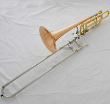 Bass Trombone Brose Brass Bell Pro.Horn 2 Rotor Cupronickel Tuning Slide +Case