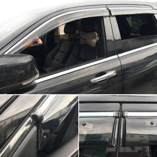 Plastic Window Visor Vent Sun Rain Guard 4pcs For Jeep Grand Cherokee 2012-2018