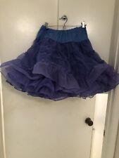 Square Dance Petticoat Blue FULL Adjustable Elastic Waist double layer size P