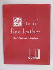 Alfred Dunhill CATALOG - 1961 ~~ fine leather accessories, tobacco pouches