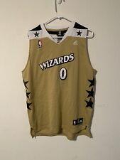 Rare Adidas NBA Washington Wizards Gilbert Arenas 0 Gold Alternate Jersey Men XL