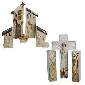 Winter Wonderland  - Nativity Set - Mary Joseph & Baby Jesus - Choose Design