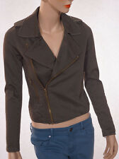 Joes Jeans Womens Olive Army Green Cotton Moto Jacket Coat-XS