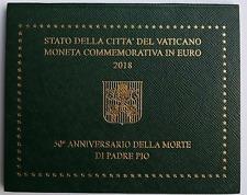 "VATICAN 2018 : BU 2 euros ""Padre PIO"""