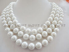 """peal shell beads necklace 50"""" Aa 12mm white South Sea"""
