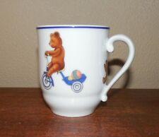 "Royal Copenhagen ~ Julius ~ Teddy Bear Riding Bike ~ 3"" Child's Cup ~ #494 Mint"