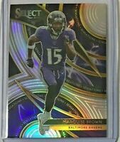 Marquise Brown *Silver* Sensations rookie 2019 Panini Select 🏈 Baltimore Ravens