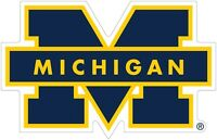 """University of Michigan Wolverines Color Decal Sticker - You Pick Size 2""""-42"""""""