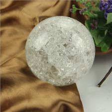 80mm Crystal Ice Crack Ball Quartz Glass Marbles Magic Sphere