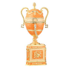 Faberge Egg / Trinket Jewel Box / Music Box Amphora with snake 8.3'' 20cm orange
