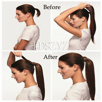 16-20inch Magic Straps 100% Human Hair Ponytail Comb Pony Tail Hair Extensions