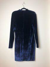 Reiss Women's Blue Greysie Velvet Dress UK 14 Open Back Night Navy