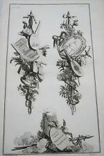 EAU FORTE JEAN CHARLES DELAFOSSE-VOYSARD DIVERSES AMOURS -TROPHEES 1772