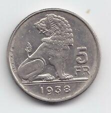Leopold III 5 franken 1938nl  positie B  scheiding:     kroontje