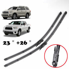 Pair Windshield Wiper Blades Flat Front Window Fit For Toyota Tundra Sequoia 08-