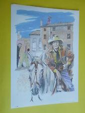 Filippucci, Lucio-litografia n°30-Tex Willer-martin Mystére timbro primo giorno