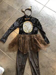 Girls Halloween Cat Fancy Dress Up Costume Age 7-8 Years