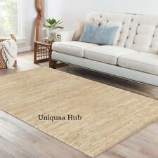 Rug Runner Natural Jute Handmade Braided style rug Reversible Living Area Rugs