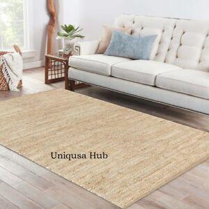 Rug Runner Natural Braided Jute modern living area carpet rug rustic look rugs