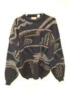 Vintage Bugle Boy Company Knit Sweater Men's Acrylic Size XL Blue NWT White